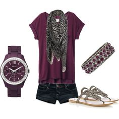 Outfit - Love the deep purple