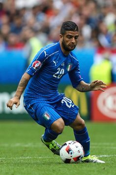 #EURO2016 Lorenzo Insigne of Italy drives the ball during the UEFA EURO 2016 round of 16 match between Italy and Spain at Stade de France on June 27 2016 in...