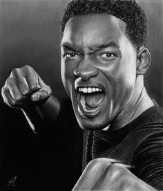 Will Smith - 50 Excellent Examples of Portrait Drawing Face Pencil Drawing, Cool Pencil Drawings, Amazing Drawings, Realistic Drawings, Pencil Art, Art Drawings, Pencil Photo, The Smiths, Celebrity Drawings