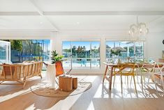 The Hamptons look is rooted in American history but Australians have modernised the trend to suit a more laid back lifestyle. Get the top tips for renovating to achieve the look. Palm Springs Style, Large Stencils, Coastal Style, The Hamptons, House Design, American History, Table Decorations, Building, Modern