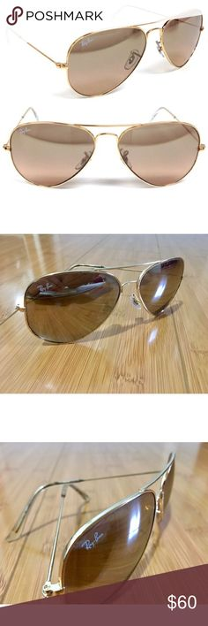 Ray-Ban Brown Mirrored Aviator Sunglasses Excellent condition, no scratches or damage. I do not have the case. Specific model is no longer made. Ray-Ban Accessories Sunglasses