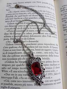The place to buy and sell everything that is handmade - Ruby Isabelle Lightwood Necklace by GadgetsWonderWorld - Isabelle Lightwood, Gothic Aesthetic, Witch Aesthetic, Fantasy Jewelry, Gothic Jewelry, Yennefer Of Vengerberg, Shadowhunters The Mortal Instruments, The Infernal Devices, Shadow Hunters