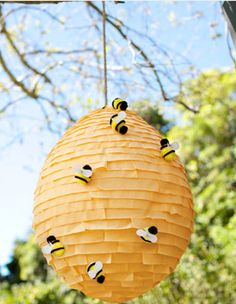 DIY Bee Hive Pinata from P is for Party