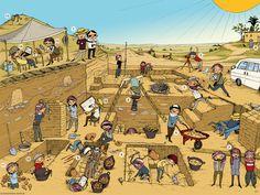 Praatplaat opgravingen voor kleuters