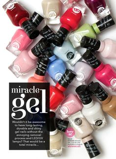 Sally Hansen Launches Miracle Gel 14-Day Wear Light-Free Gel! #PolishNews  - Share/explore more nail looks at bellashoot.com!