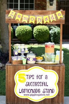 5 Tips for a Successful Lemonade Stand + Free Printables. Host a Lemonade for Livy lemonade stand this summer and help raise money and awareness for the Epilepsy Foundation of America