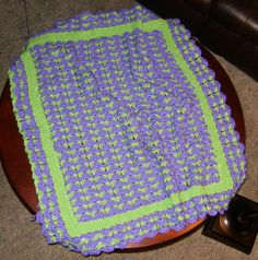 Crocheted afghan - grand daughter's choice almost done !!