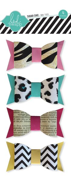 Heidi Swapp - Sugar Chic Collection - Bow Ties at Scrapbook.com $4.49