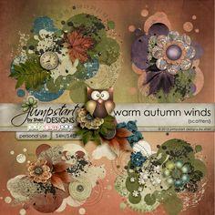 Warm Autumn Winds ~ Scatters ~ by Jumpstart Designs Digital scrapbook kits $