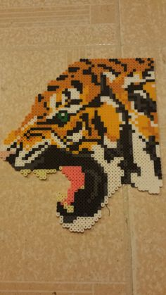 Roaring Tiger Perler Bead by catscratchess on Etsy
