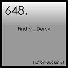 Fictional Bucket List.