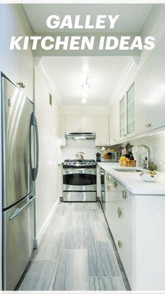Small Galley Kitchens, Galley Kitchen Design, Galley Kitchen Remodel, Modern Kitchen Design, Kitchen Designs, Kitchen Remodeling, Galley Kitchen Layouts, Very Small Kitchen Design, Small Kitchen Renovations