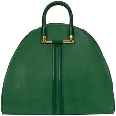 Hermes Vintage Oversize Bengale Green Tote Travel Bag | From a collection of rare vintage tote bags at https://www.1stdibs.com/fashion/handbags-purses-bags/tote-bags/