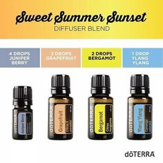doTERRA Essential Oils Sweet Summer Sunset Diffuser Blend