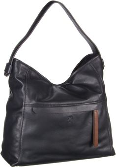 Marc O´Polo Hobo Bag M Soft Milled Cow Black - Beuteltasche