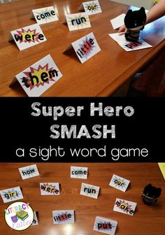 Super Hero Smash: A fun and engaging sight word game