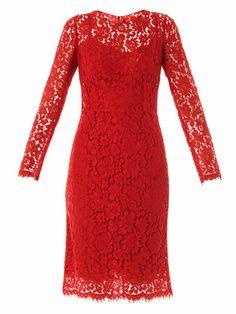 Lace long sleeved dress   Dolce & Gabbana   MATCHESFASHION.COM