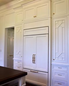 Chippendale fretwork design on cabinet doors...design details