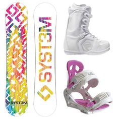 System Mai Tie Dye 2012 Women's Snowboard Package with Flow Vega Lace Boots and Siren Leaf Bindings $289.00