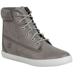 Timberland Women's Brattleboro Lace Up Boot ($120) ❤ liked on Polyvore featuring shoes, boots, grey, suede boots, lace up wedge boots, gray suede boots, wedge boots and lace up boots