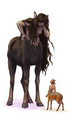fernacular.tumblr: Draw a Centaur day was a couple days ago (I can't...