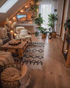 Cozy Living Rooms, Home Living Room, Living Room Designs, Living Room Decor, Room Design Bedroom, Room Ideas Bedroom, Bedroom Decor, Aesthetic Room Decor, Cozy Room