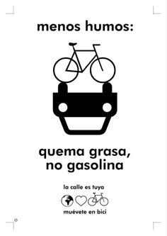 Quema grasa, no gasolina #bike #ciclist #biker #urbanbike #bicicleta…