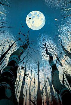 Victo Ngai, BARSK The Elephant's Graveyard, Illustration, Drawing Art Inspo, Kunst Inspo, Inspiration Art, Art And Illustration, Illustrations And Posters, Fantasy Kunst, Fantasy Art, Drawn Art, Moon Art