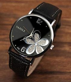 8713bfd613d Leather Analog Quartz Vogue Wrist Watch Trendy Watches