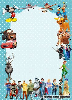 Awesome How to Throw a Disney Themed Party Have you ever dreamed of having a party like in the Disney movies? If so, this blog post is for you. It's time to get creative and have some fun with your friends, family members, or even coworkers! W... Free Printable Birthday Invitations, Baby Shower Invitation Templates, Baby Disney, 2nd Birthday Party For Boys, Best Templates, Disney Quotes, Child Love, Colorful Backgrounds, Free Printables