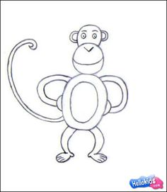 Image of: Getdrawings Howtodrawmonkeyand Lots Of Other Animals Monkey Drawing Easy Pinterest 53 Best How To Draw Zoo Animals Images Step By Step Drawing Easy