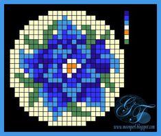 Схема цветка дельфиниума | biser.info - всё о бисере и бисерном творчестве