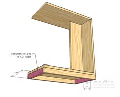 Ana White | Build a Rolling C End Table or Sofa Table | Free and Easy DIY Project and Furniture Plans