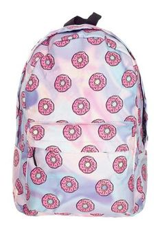 OnlineCute Donut Print Women Girls Backpacks Large Capacity Casual Travel Shoulder School Bag for Girls High Quality Travel Bag Cute Backpacks, Girl Backpacks, School Backpacks, Backpack Purse, Mini Backpack, My Bags, Purses And Bags, School Bags For Girls, Cute Purses