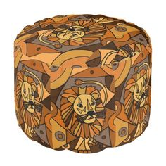 Awesome Lion Abstract Art Pouf Seat #lions #animals #abstract #pouf #seat And www.zazzle.com/inspirationrocks*