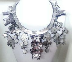 Leather collier handmade★