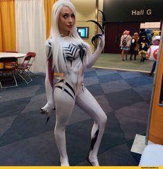 Anti-Gwenom,Marvel Cosplay,Косплей,Marvel,Вселенная Марвел,фэндомы,Spider-Gwen,Anti-Venom,Анти-Веном, Эдди Брок
