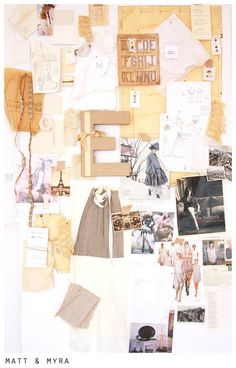 'I would then pin the latest trends, sketches and patterns for inspiration while sketching my designs! Workspace Inspiration, Inspiration Boards, Design Inspiration, Moodboard Inspiration, Mail Art, Art Studios, Wall Collage, Altered Art, Art For Kids