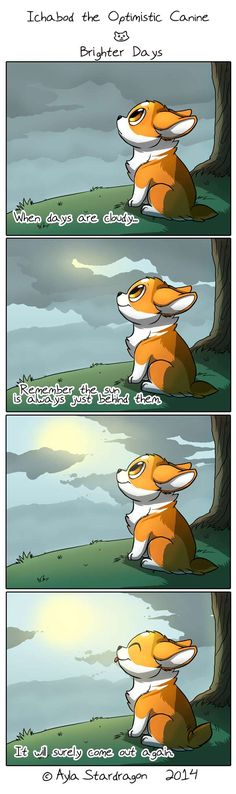 Ichabod the Optimistic Canine Comic (so cute! Dog Comics, Cute Comics, Funny Comics, Cute Corgi, Cute Puppies, Cute Funny Animals, Funny Cute, Performance Artistique, Online Comics