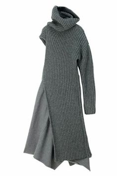 A good way to add width to a sweater, and also to make an asymmetrical design statement.