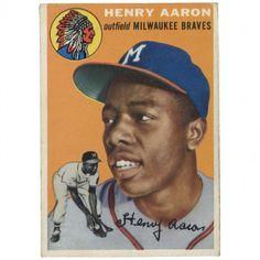 hank aaron rookie baseball card - Google Search