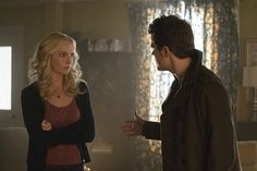 """The Vampire Diaries -- """"Prayer for the Dying"""" -- Image Number: -- Pictured (L-R): Candice Accola as Caroline and Paul Wesley as Stefan -- Photo: Tina Rowden/The CW -- © 2015 The CW Network, LLC. All rights reserved. Caroline Forbes, Stefan And Caroline, Vampire Diaries Seasons, Vampire Diaries Cast, Vampire Diaries The Originals, Stefan Salvatore, The Cw, Prayers For The Dying, Candice King"""
