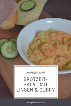 """Der perfekte Salat zur Brotzeit. Beim Abendessen, Mittagessen, einfach """"für dabei"""". Mit Curry, Ananas und roten Linsen."""