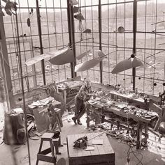 Calder in the studio