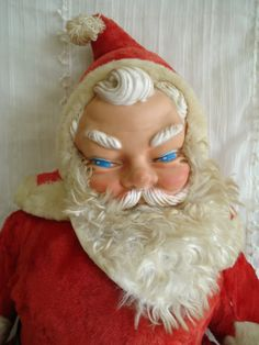 Vintage Santa Doll From the 1950's / retro by SweetPeaVignettes