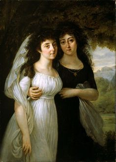 Baron Antoine Jean Gros French, 1771-1835  Portrait of the Maistre Sisters, 1796