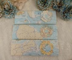 Chocolate Wrapper Travel Theme Party Favor Map Paper by StudioToto