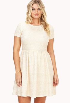 Festive Speckled Fit & Flare Dress | FOREVER21 PLUS - sizes XL to 3X