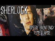 SHERLOCK Speed ART PAINTING #2 - Benedict Cumberbatch - By Stephen Quick - YouTube
