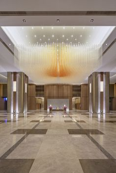 BEIJING KERRY CENTRE OFFICE TOWER  Beijing Kerry Centre's prime location in the heart of the Central Business District puts you right at the doorstep of mainland China's commercial activity. Everything you need for maximum productivity is located under one roof, at one attractive, highly visible address. Lasvit's illuminated sculpture embellishes the lobby of this tower.